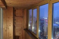 обшивка внутри балкона вагонкой