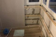 отделка потолка балкона пластиковыми
